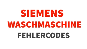 siemens waschmaschine fehler beheben bedeutung der codes. Black Bedroom Furniture Sets. Home Design Ideas